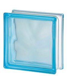 Blue Wavy Glass Bricks