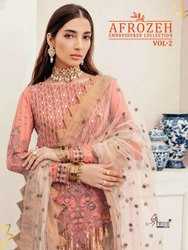 Shree Fabs Afrozeh Embroidered Collection Vol 2 Georgette Pakistani Suit Catalog