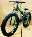Ferrari Green Fat Tyre Foldable Cycle