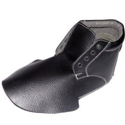 Buffalo Leather Black Safety Shoe Upper, For Footwear, Size: 7 To 12