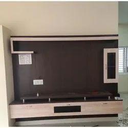 Brown Pvc Fancy TV Unit, For Home