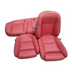 Red Artificial Leather Car Seat Cover
