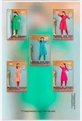 Designer Nurani Cotton Slub Casual Wear Kurti, Wash Care: Dry clean