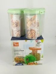 Plastic 2 pcs Kitchen Max Container, Packaging Type: Box, Capacity: 2350 Ml