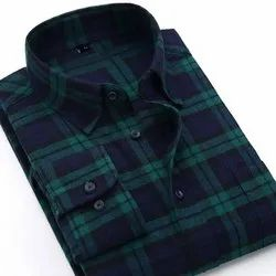 Cotton Checked Mens Casual Wear Shirt
