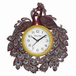 Ajanta Multicolor Printed Wall Clock, Size: 13*15, Model Name/Number: mkhc0296