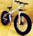 White Land Rover Fat Tyre Foldable Cycle