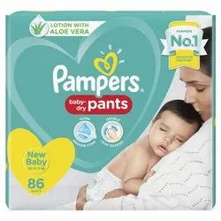 Nonwoven Disposable Pampers Diaper Baby Pants, Age Group: 3-12 Months, Packaging Size: 86 Pieces