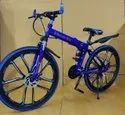 Mercedes Benz Blue 10S Foldable Cycle