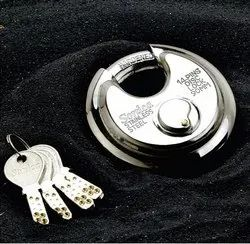 Sonica With Key Stainless Steel Shutter Disc Locks, Padlock Size: 90 mm