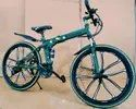 Mercedes Benz Green 10S Foldable Cycle