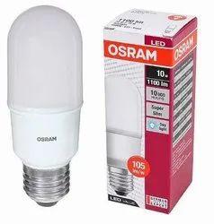 Round Polycarbonate Osram 10W LED Stick Lamp E27 830 Warm White Pack