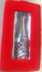 Glass Silver 12 ml Fancy Attar Bottles, Dome