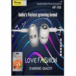Wired HP-768 Love Fashion Diamond Quality Earphone