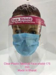 Clear Plastic Medical Face Shield-175 Mic