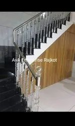 Natural Round Acrylic Staircase Railing