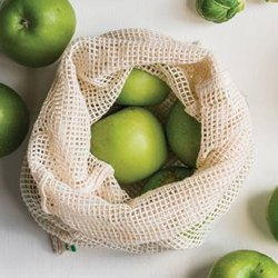 Eco Green Organic Cotton Net Mesh Bag
