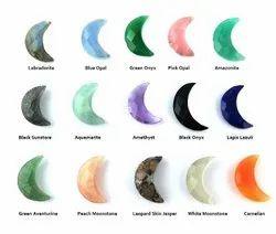 Gemstone Crescent Moon - Faceted Half Moon Gemstones