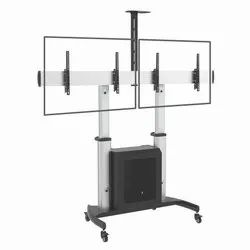 TTD07C-46TW Dual Display Trolley With Cabinet