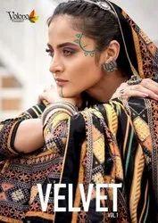 Volono Trendz Velvet Vol 1 Pure Velvet With Digital Print Salwar Kameez Catalog