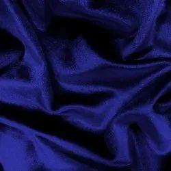 Plain Blue Viscose Velvet Fabric, For Textile, 180