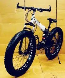 BMW Black White Fat Foldable Cycle