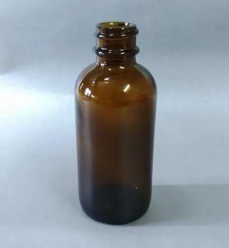 Boston Series 60 Ml Amber Glass Bottle, Size: 2oz