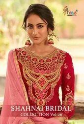 Shree Fab Shahnai Bridal Collection Vol 26 Heavy Georgette With Sharara Style Salwar Kameez Catalog
