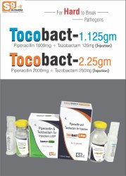 TOCOBACT-1.125 Injection Piperacillin 1g   Tazobactam 125mg