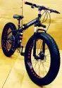 Ferrari Black Fat Tyre Foldable Cycle