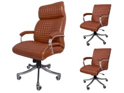 Leather Rotatable Durafur Estillo Brown Office Executive Chair