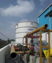 Commercial Water Tank for Fire Fighting, Storage Capacity: 100KL-500KL