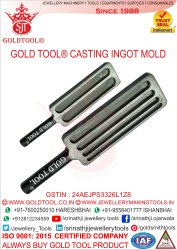 Gold Tool Casting Ingot Molds Mirror Polish Flat