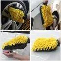 Adoniz Microfiber 3 In 1 Wash Glove, For Car Cleaning, Finger Type: Full Fingered