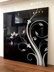 Glossy Black Painted Designer Glass
