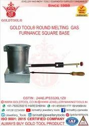 Gold Tool Round Melting Gas Furnace Square Base