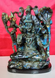 Shiv Statue Of Labradorite .