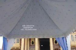 Cotton & canvas Blue&Blue Square Tent, Size: 12x12