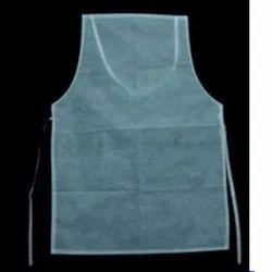 Non Woven White Disposable Aprons, Size: Medium