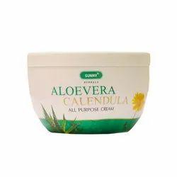 Natural Sunny Herbals Aloevera Cream 125gm, Packaging Type: Jar