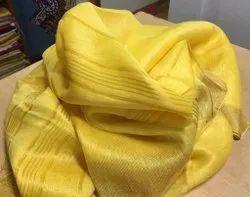 HALIM Festive Wear Silk Linen Jamdani Saree, 6.3 m (with blouse piece)