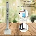 Foot Operated Sanitizer Dispenser, Gel Soap Dispenser Stand Touchless Portable - GREY