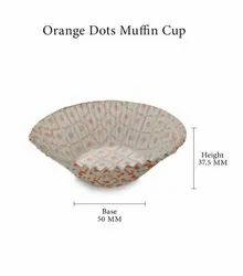 Orange Dots Muffin Cup
