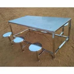 6 Seater SS Canteen Table