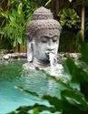 Fiber Buddha, Frp Fountain Statue, For Exterior Decor