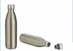 Silver stainless steel vacuum cola bottle