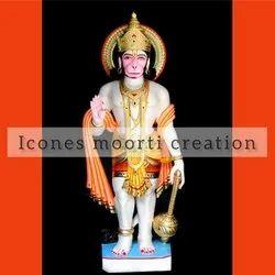 4.3 Feet Marble Hanuman Statue