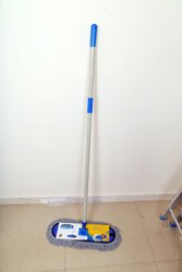 JS Deluxe Blue Dry Mop, For Floor Cleaning, Size: 1 Inch