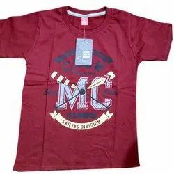 U Trend Cotton Hosiery Half Sleeves Boys T Shirt, Size: 22-34