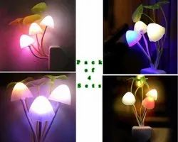0.01V Plug In Romantic Automatic Sensor Mushroom Night Lamp